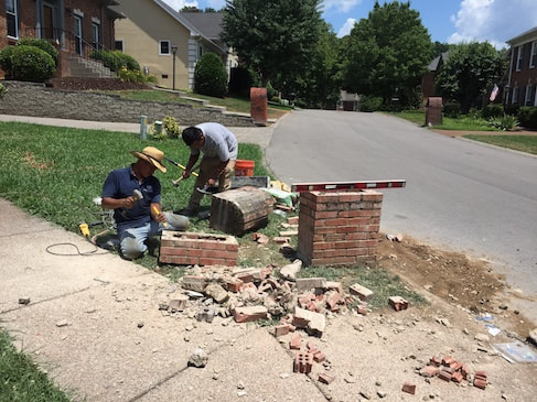 brick mailbox repair chattanooga